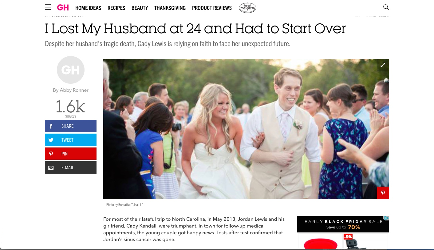 Good Housekeeping/Cosmo Magazines Tell Jordan & Cady's Story